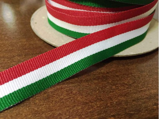 National ribbon, color: hungarian nation, width: 17mm, 1 roll: 100m, unitprice: 26,0 Ft/meter*