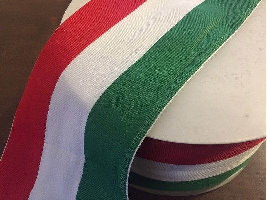 National ribbon, color: hungarian nation, width: 100mm, 1 roll: 50m, unitprice: 153,0 Ft/meter*